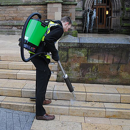 Cleaning Chewing Gum From Sidewalk